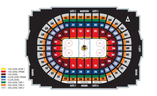 United Center / Chicago Blackhawks Seating Chart