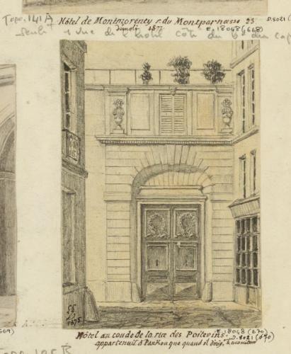 Hôtels RG : Hôtel du coude de la rue des Poitevins. | Paris Musées