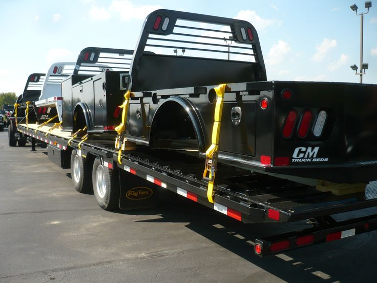 Midwest Motors Mobile display of CM truck beds