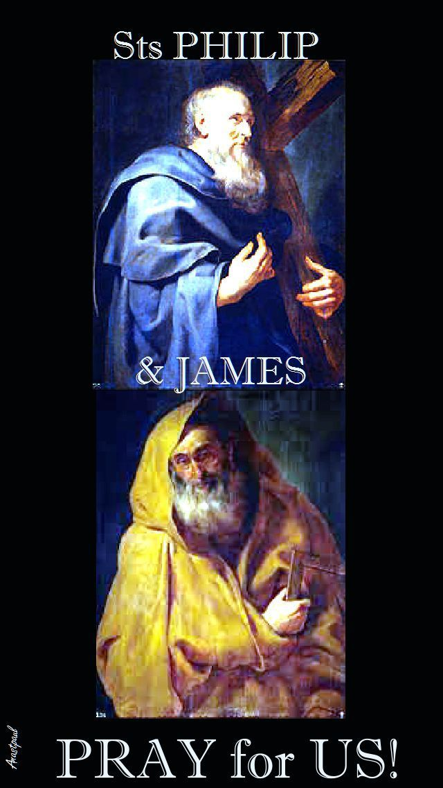 Sts Philip and James left all to follow Jesus, to become His heralds to the whole world.   They faced only difficulties, opposition and – finally – death by violence.   We cannot avoid the difficulties that come with professing our faith and we are all called to be ........#mypic