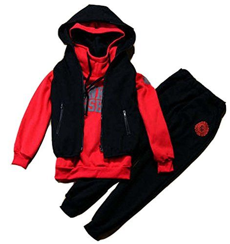 BININBOX Damen Sportanzug Jogginganzug Sweatshirt+Sporthose+Weste mit Kapuzen Trainingsanzug Kapuzenjacke (36, Rot) BININBOX http://www.amazon.de/dp/B00S61MCOW/ref=cm_sw_r_pi_dp_zNHCwb131SAF3