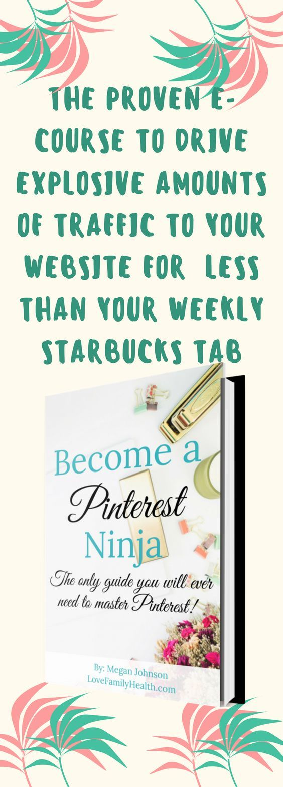 What if I told you that you could drive tons of traffic to your site without spending hours upon hours promoting it online? Read this THE PROVEN E-COURSE TO DRIVE EXPLOSIVE AMOUNTS OF TRAFFIC TO YOUR WEBSITE FOR LESS THAN YOUR WEEKLY STARBUCKS TAB