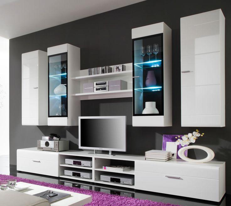 Genial wohnwand schwarz weiß hochglanz günstig