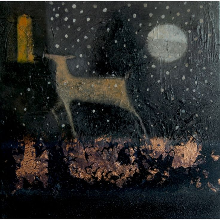 'Snow at Green Knowe' by Catherine Hyde (acrylic on canvas)