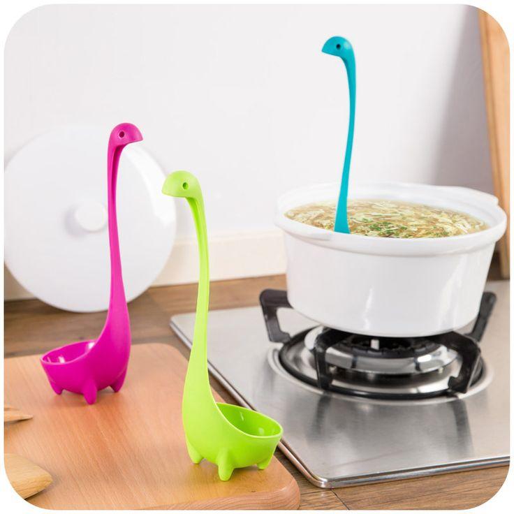 1 unid Nessie Cuchara Creativa Lindo Dinosau Cuchara Grande Cuchara de Sopa Utensilios de Cocina Herramientas de Cocina