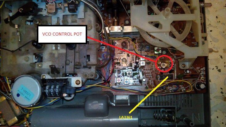 Sanyo m9940k LA3361 Stereo VCO control pot