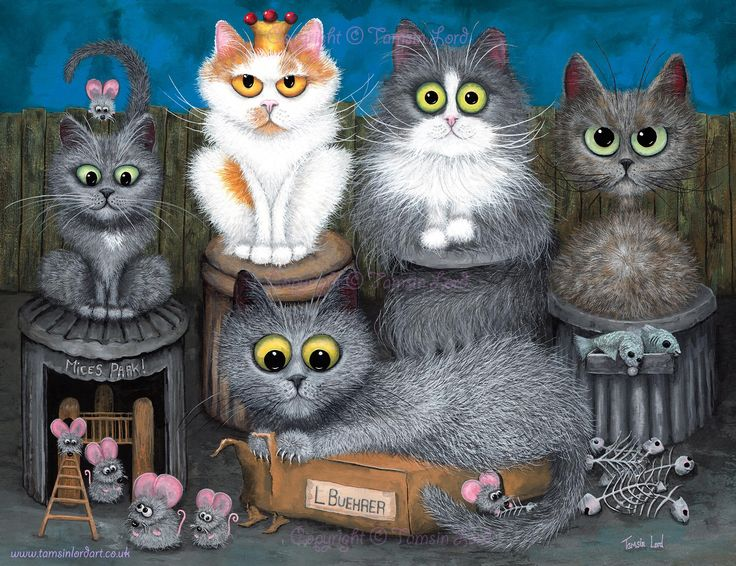 'Rescued Kitties' A commissioned painting by Tamsin Lord