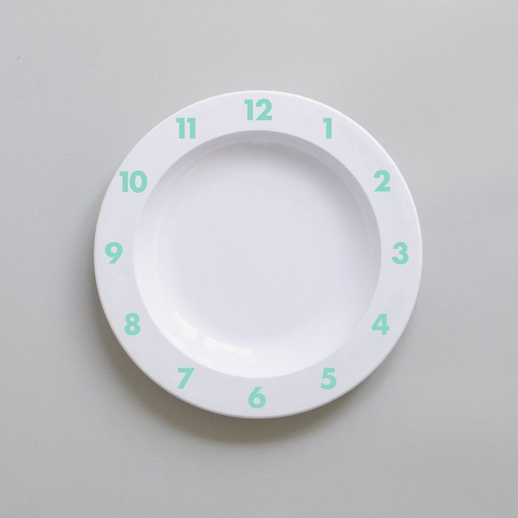Dinner Time – Plastic Plate (Mint)