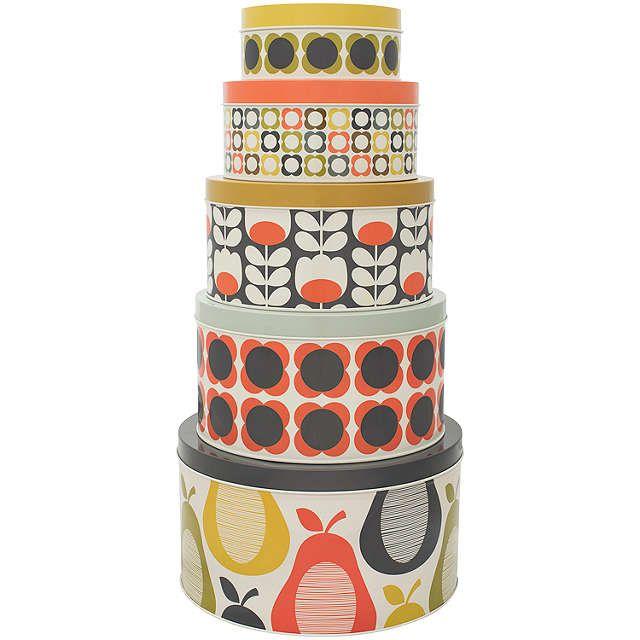 Orla Kiely Cake Storage Tins, Set of 5 at John Lewis