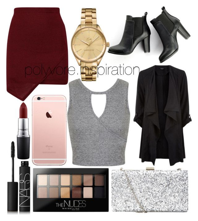 """Untitled #185"" by loveemyself on Polyvore featuring SWEET MANGO, Lacoste, Miss Selfridge, Maybelline, NARS Cosmetics and MAC Cosmetics"
