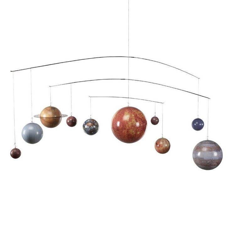 Tag med en tur i rummet og oplev hvorledes solsystemet er bygget op, med denne flotte uro, som på autentisk vis, viser solsystemet. Køb uroer online her.