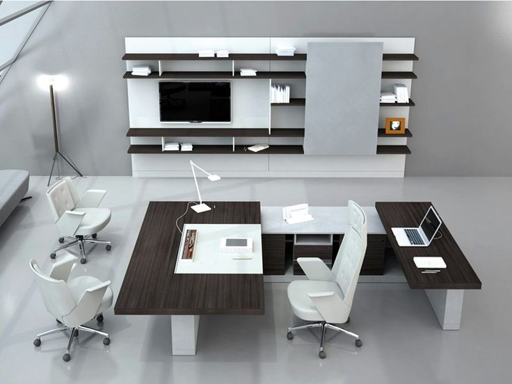 Modular wooden office shelving BOISERIE Estel Office Line by ESTEL GROUP