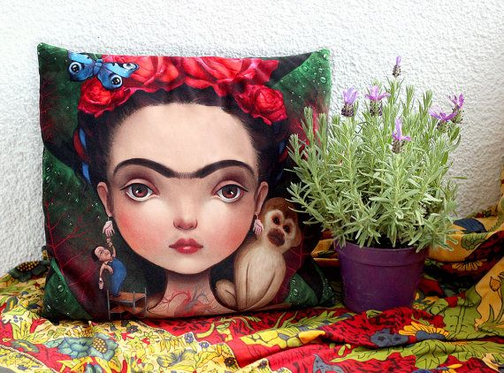 Hey, I found this really awesome Etsy listing at https://www.etsy.com/au/listing/227686911/diegito-and-i-art-pillow-luxury-velvet