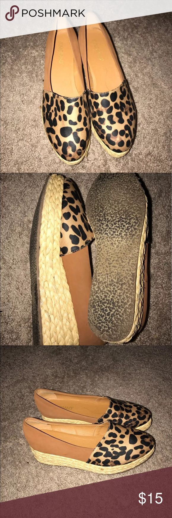 Nomad Leopard Print Wedges Size 9.5 You are bidding on a pair of Nomad wedge leopard print shoes size 9.5 great condition Shoes Espadrilles