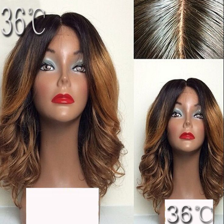 Short ombre full lace wig two tone #1BT30  human hair lace front wig brazilian short wavy blonde glueless full lace human hair