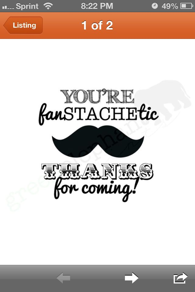 Mustache Party Thank You Notes Can T Wait For Aidens Mustache Party
