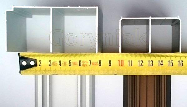 Wprowadzamy do sprzedaży system drzwi suwanych zajmujący zaledwie 52mm z jej głębokości (standardowy system ma min. 81mm)