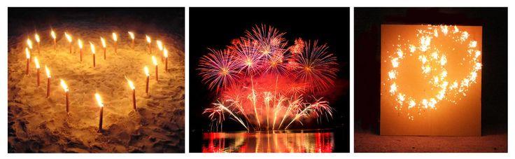 Fackelherz Hochzeitsfeuerwerk Lichterbilder