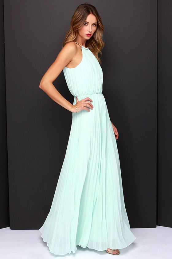 Bariano Melissa Mint Maxi Dress at Lulus.com - also in peach/blush