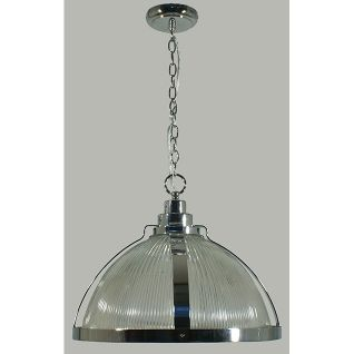 Large Stockton Glass Chrome Pendant Light from Lode Lighting. Buy in store at Schots at Melbourne & Geelong, Australia