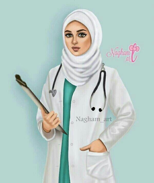 Pin By Ritika Saha On Medicine Doctor Hijab Drawing Doctor Drawing Girls Cartoon Art