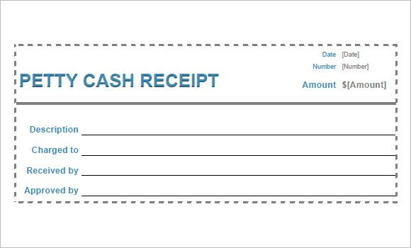 Petty Cash Receipt Template Pdf