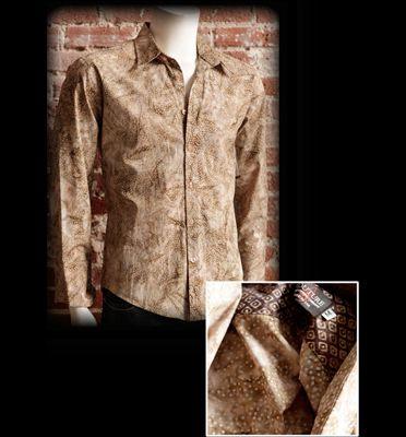 Couture: Galaxy Batik Shirt Tan
