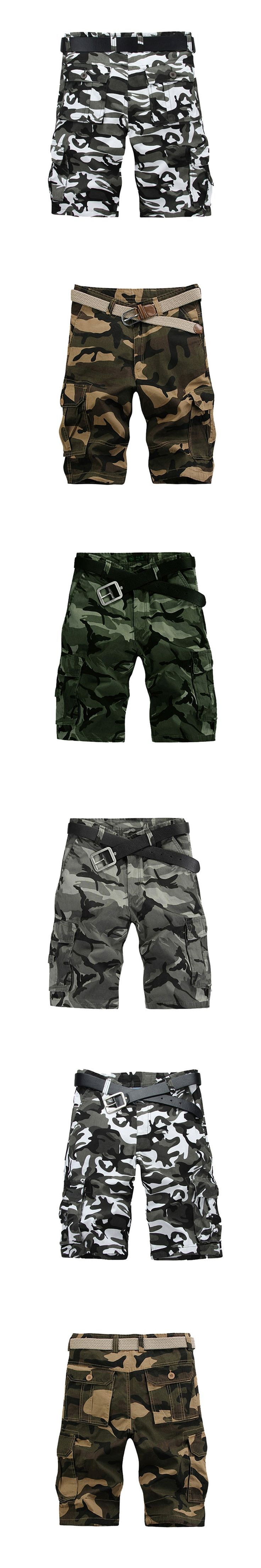 Men's Military Shorts Summer 2017 Men Camouflage Army Cargo Short Multi Pocket Casual Camouflage Summer Brand Clothing Male