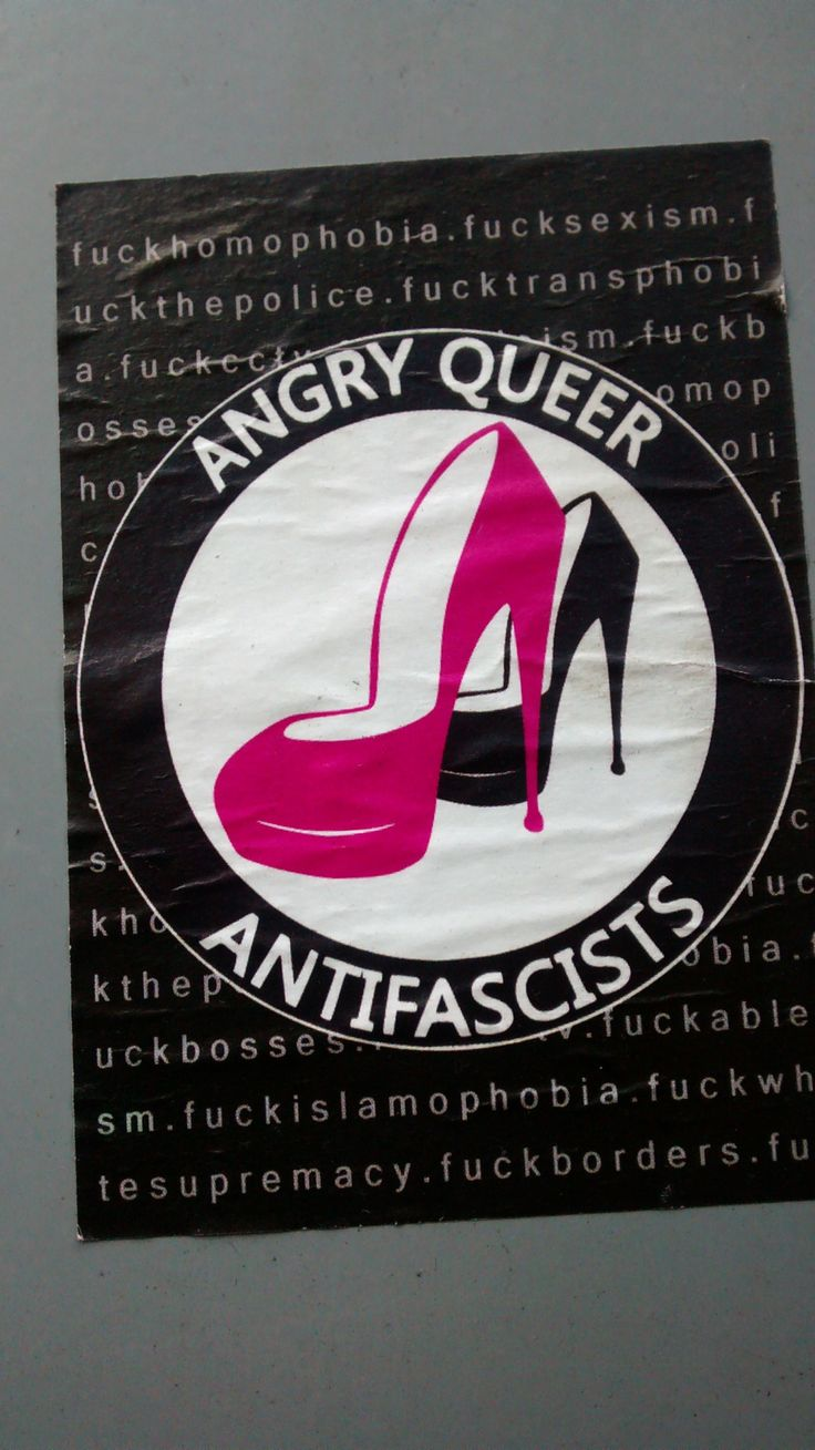 """angry queer antifascists""Brighton, England"