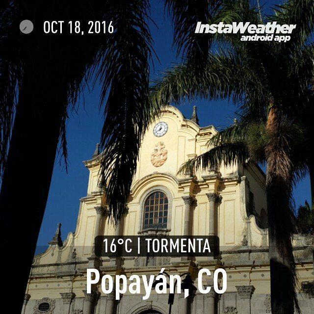 #Clima #PopayánCO min: 15ºC max: 24ºC Mañana: Cielo Parcialmente Nublado Tarde: Nublado Noche: Cielo Parcialmente Nublado