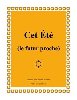 "When thoughts turn to summer vacation, go with the flow and review or drill the futur proche (aller + infinitive). Students stand and circulate trying to find ""yes"" answers to questions about summer activities. ""Est-ce que tu vas faire un voyage?"" 1st-2nd yr. French 6th-10th gr. $"