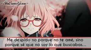 Me despido no porque. #ShuOumaGcrow #Anime #Frases_anime #frases