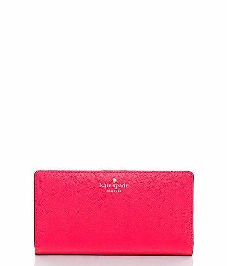 dfe9b8dd01ced Kate Spade Cedar Street Stacy Slim Bifold Leather Snap Slim Wallet Pin –  Luxe Fashion Finds
