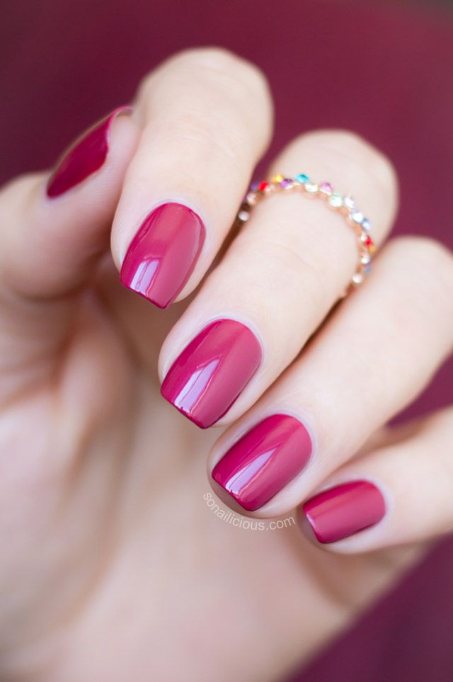 Marsala perfect nails - Inglot o2m breathable polish 689. Review: http://sonailicious.com/marsala-perfect-inglot-o2m-breathable-nail-polish-691-689-review/