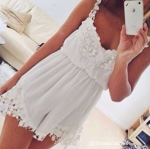 Lace white playsuit.