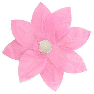 Lumabase Lotus Floating Paper Lanterns - Set of 6 Pink - 56106