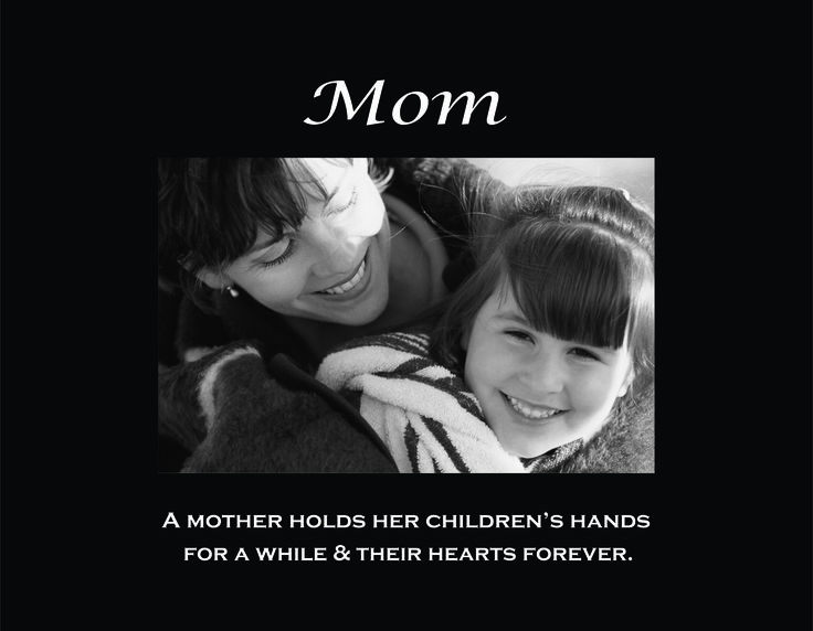 """Mom 4""""x6"""" Photo Frame with Verse ( A Mother Holds Her Childrens Hands ...)"""