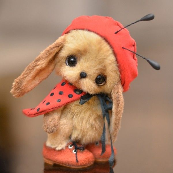 Copyright teddy bears, Catherine Bespalova - Rabbit Labybird Sally