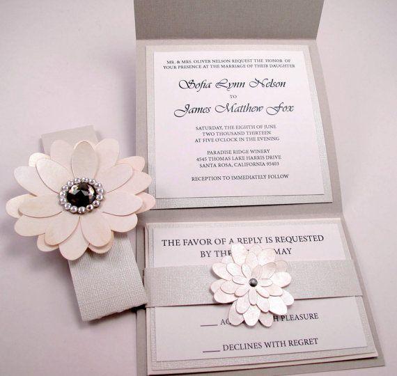 vintage couture wedding invitation swarovski crystal smokey jewel 1200 - Couture Wedding Invitations