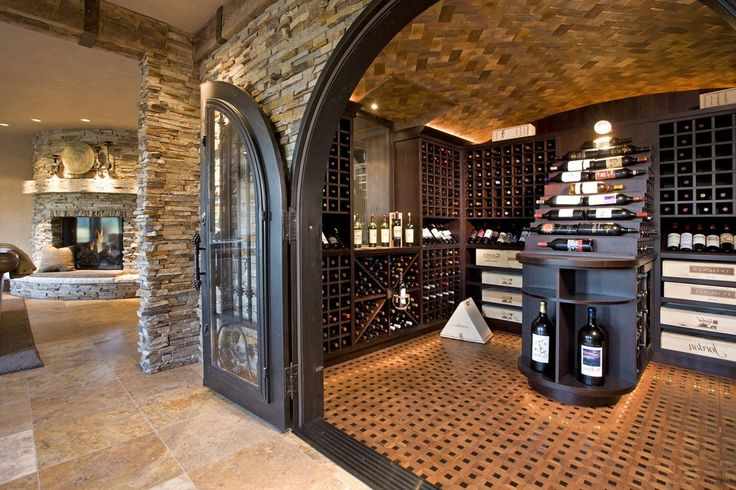 Wine Room Design Cellar Mediterranean with Storage Contemporary Glasses