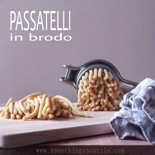 Una ricetta della tradizione romagnola da non perdere!!! http://somethingaboutilo.com/2014/12/passatelli-in-brodo/