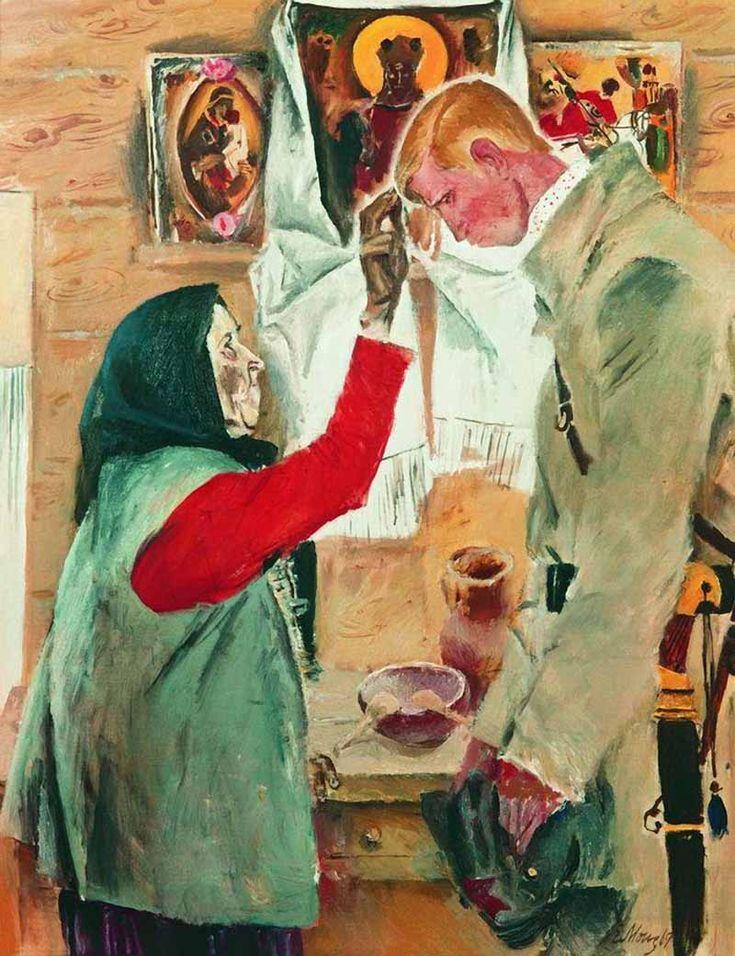 Моисеенко Евсей Евсеевич. «Сын» 1969 Холст, масло. 106.5 x 86 см Государственная Третьяковская галерея