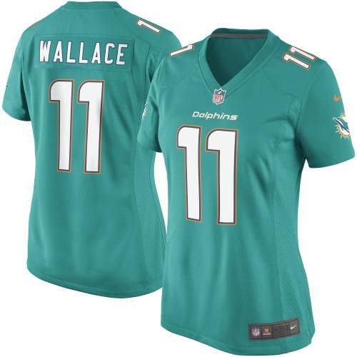 nike mike wallace miami dolphins womens new game jersey aqua
