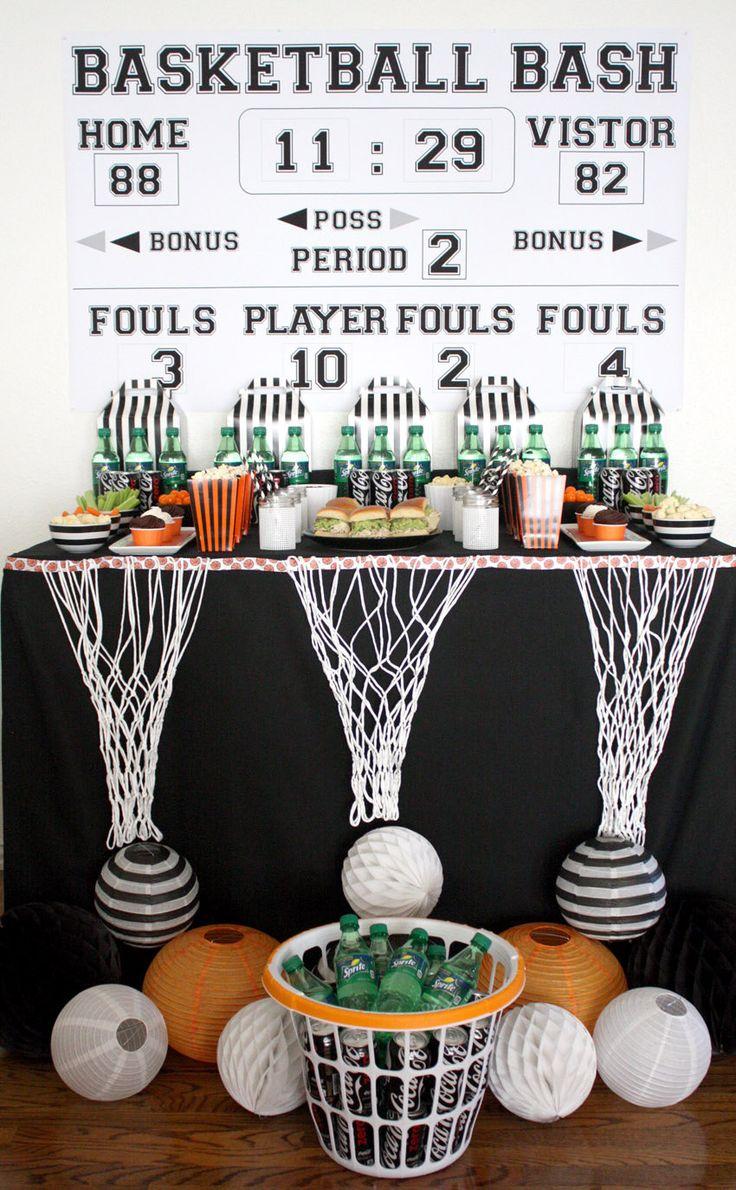 Scoreboard, Basketball, Basketball Playoff, Basketball Watch Party, Sports Theme, Birthday Party, Basketball Bracket, Backdrop Printable by BellaGreyDesigns on Etsy