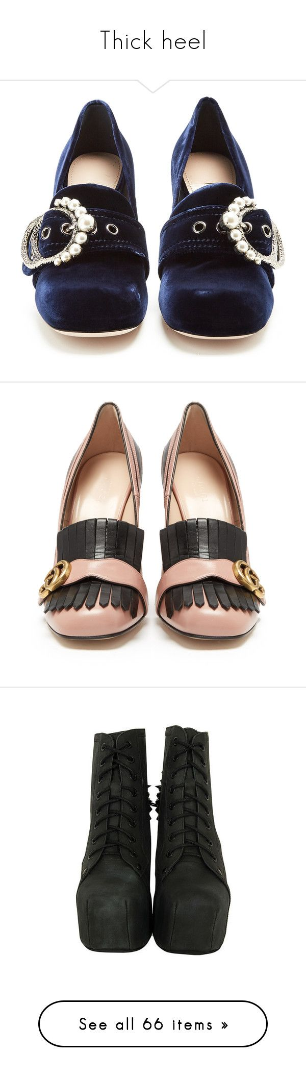"""Thick heel"" by minleepam ❤ liked on Polyvore featuring shoes, loafers, block-heel shoes, miu miu loafers, block heel loafers, chunky loafers, navy velvet shoes, pumps, zebra print pumps and gucci pumps"