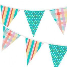 Decorate your garden or patio area with this 10 flag bunting. Spots, stripes andother prints make a fun display to match the rest of our Outdoor living theme   this Summer…