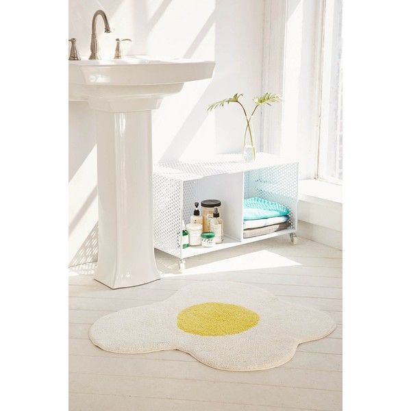 Sunny Side Up Bath Mat ($29) ❤ Liked On Polyvore Featuring Home, Bed