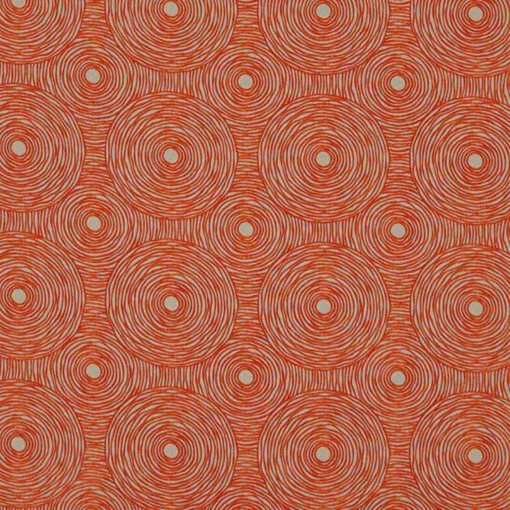Warwick Fabrics : GILLESPIE, Colour TANGERINE