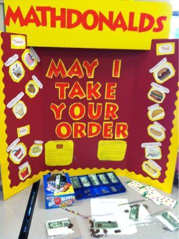 The Lemonade Stand: Math Methods Class- Center games money and etc
