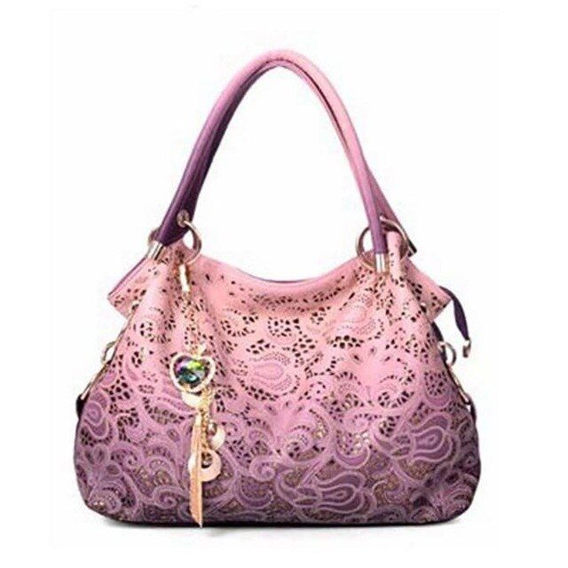 Fivelovetwo women handbags retro hollow carved shoulder bag
